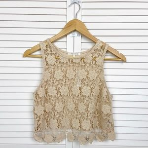 NWT Active Lace Front See Through Tank M